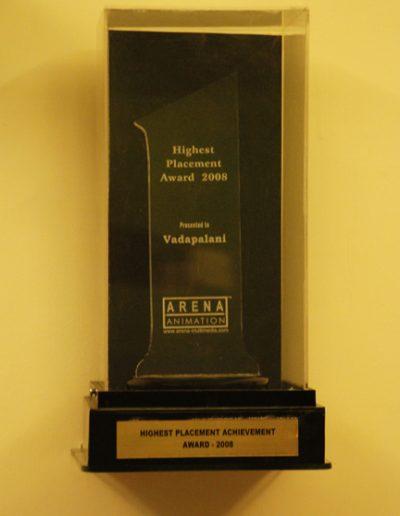 Highest Placement Achievement Award